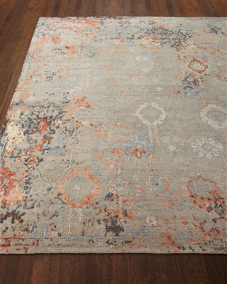 Jenzyn Hand-Knotted Rug, 6' x 9'