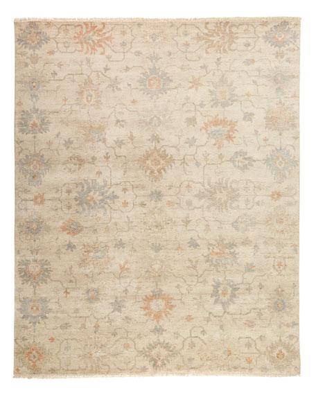 Mykia Hand-Knotted Oushak Rug, 10' x 14'