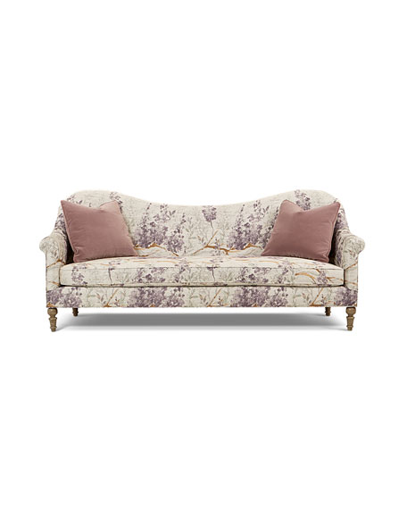 Lila Camel-Back Style Floral Sofa 93""