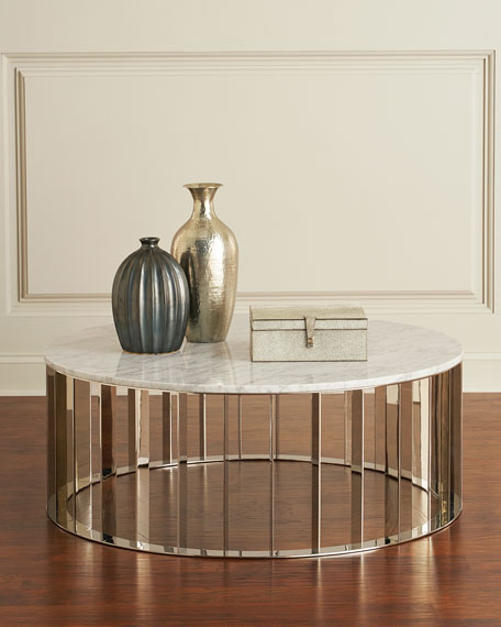 Roxette Marble-Top Round Coffee Table