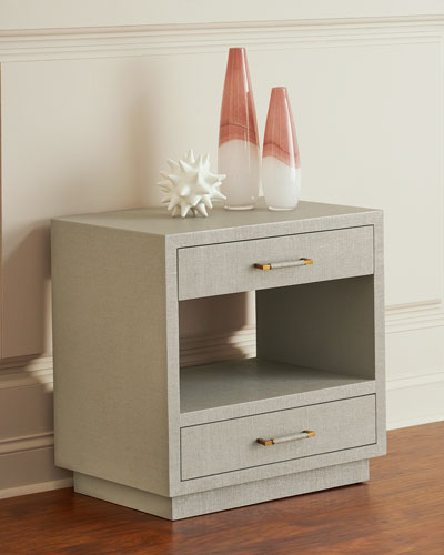 Robyn Bedside Chest  Gray