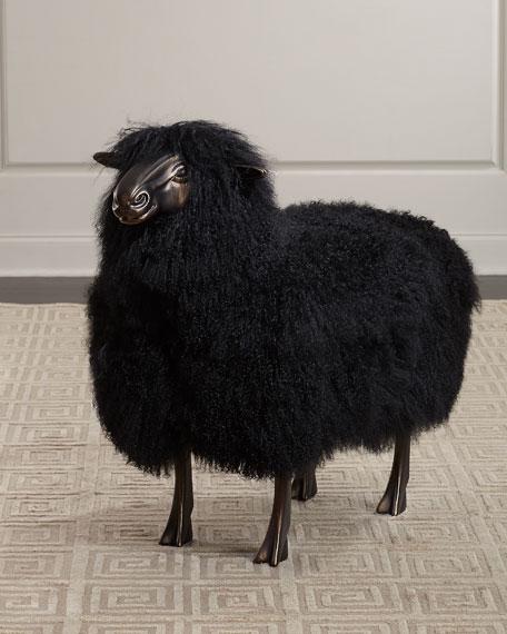 Maddox Sheepskin Bench
