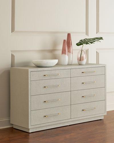 Robyn 8-Drawer Dresser  Gray