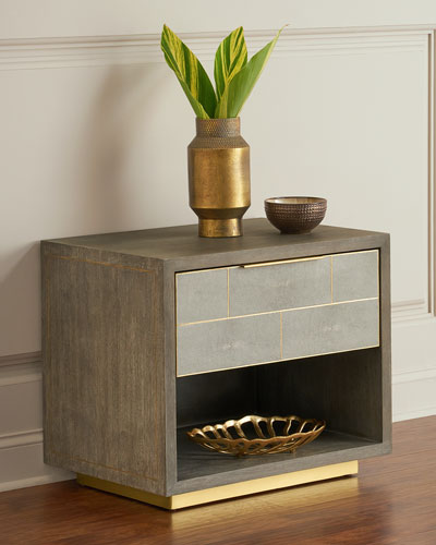 Olivia Shagreen Bedside Chest