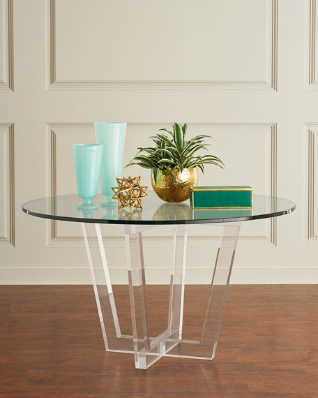 Lovey Acrylic Round Dining Table