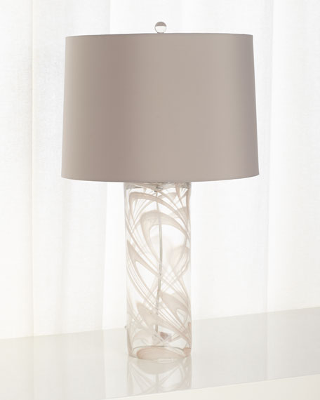 Narissa Glass Table Lamp with Drum Shade