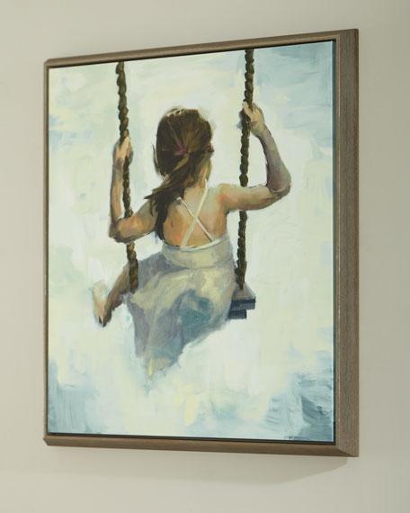"""Emma"" Handmade Giclee on Canvas Wall Art"