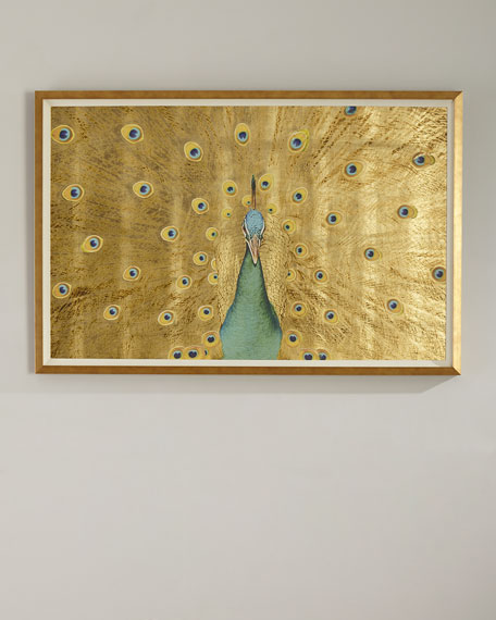 Gold Leaf Peacock Oversized Art