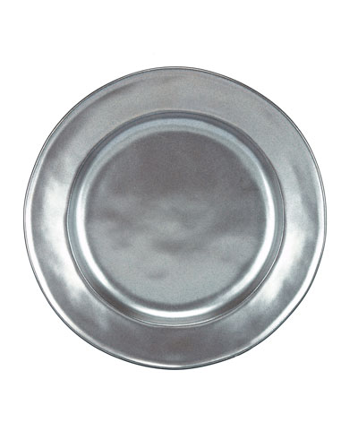 Pewter Stoneware Dessert/Salad Plate