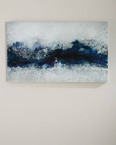 Mystic River Handmade Print Art on Canvas by Mary Hong