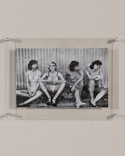 Bubbles Models Print Photography Art in Plexi Frame