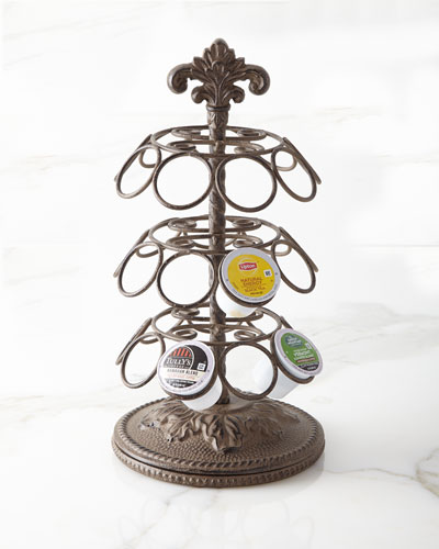 Metal Acanthus Leaf Spinning Coffee Pod Holder