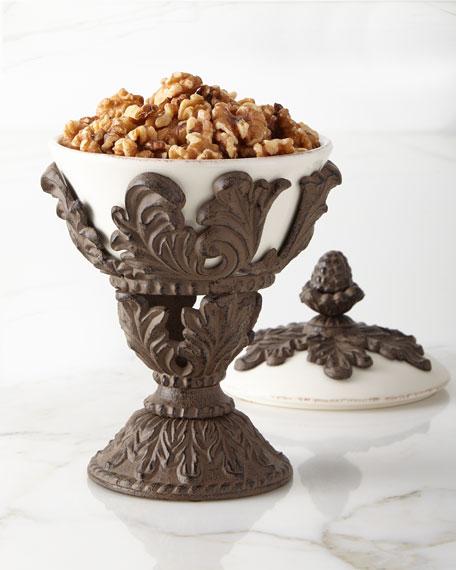 Ceramic Pedestal Nut Bowl