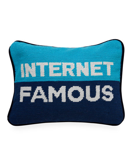 Internet Famous Needlepoint Personality Pillow