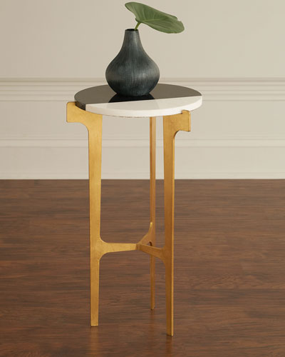Yin Marble & Gold Leaf Martini Table