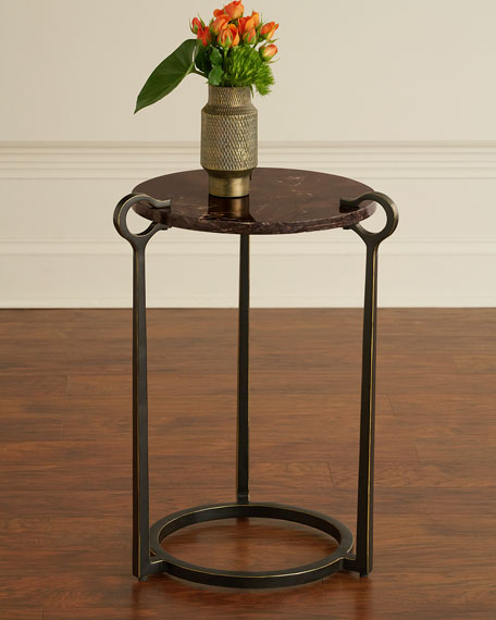 Cresthaven Bronze-Finish Accent Table