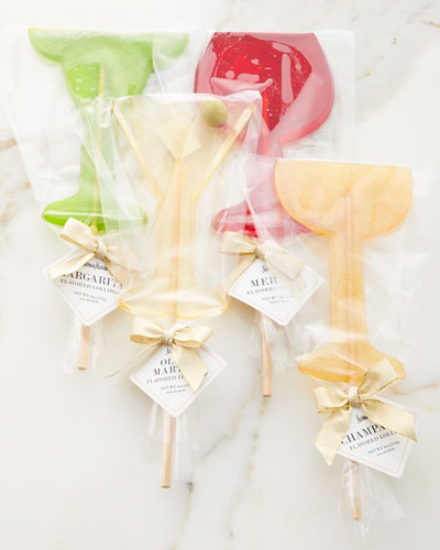 Assorted Cocktail Lollipops, Set of 4