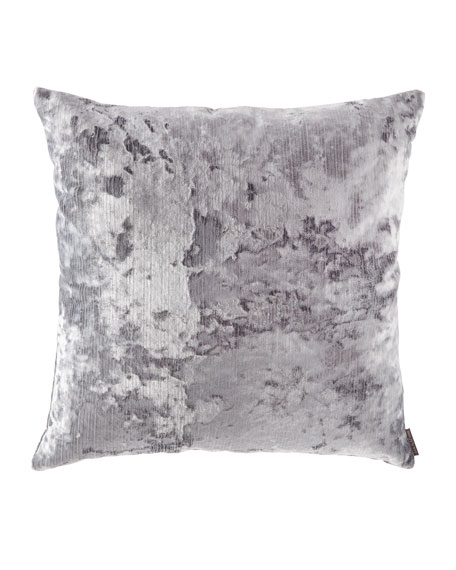 D.V. Kap Home Miranda Textured Pillow, Silver