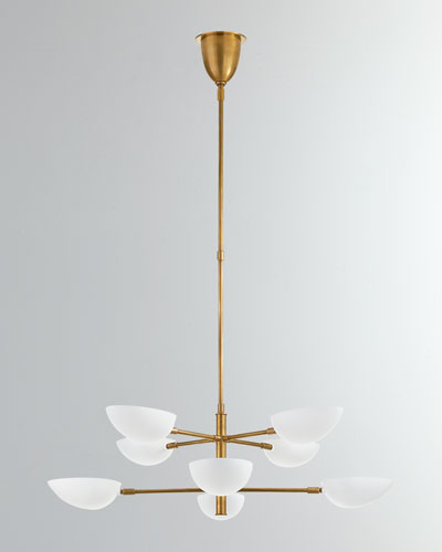 Graphic Large Two-Tier Chandelier