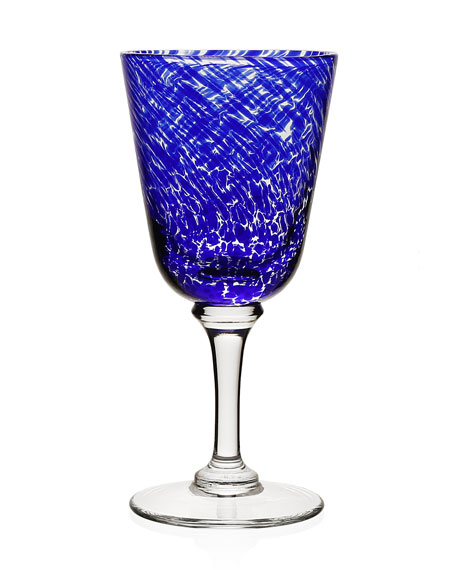Vanessa Wine Glass, Blue