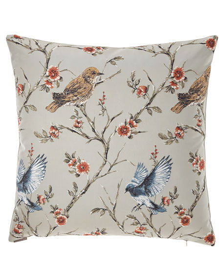 Jocelyn Birds & Floral Pillow