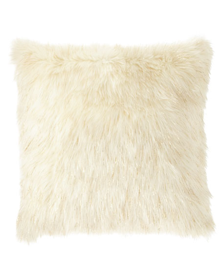 D.V. Kap Home Glamour Faux-Fur Pillow