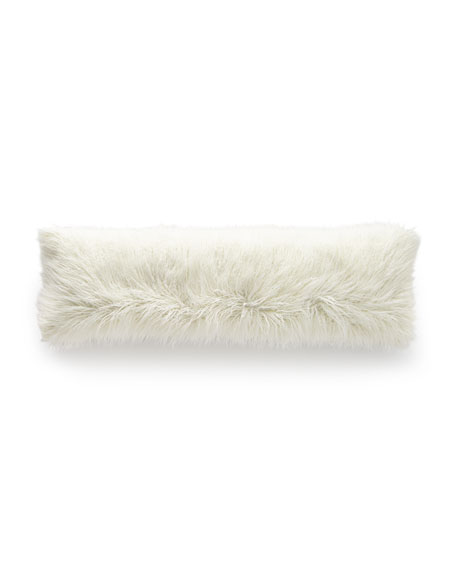 D.V. Kap Home Llama Faux-Fur Bolster Pillow