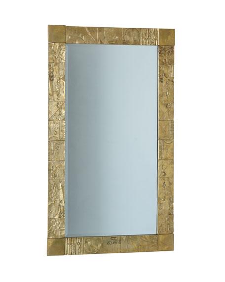 Cast Brass Geometric Mirror