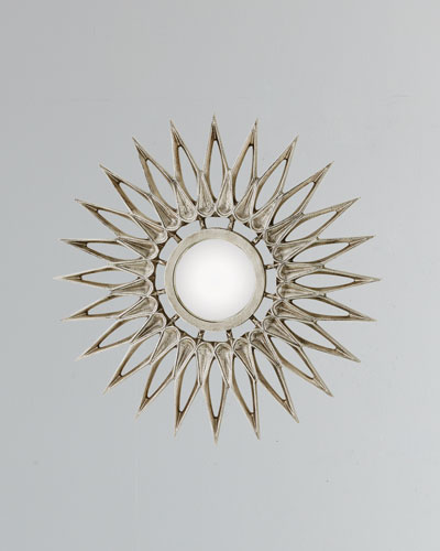Dahlia Small Nickel Mirror