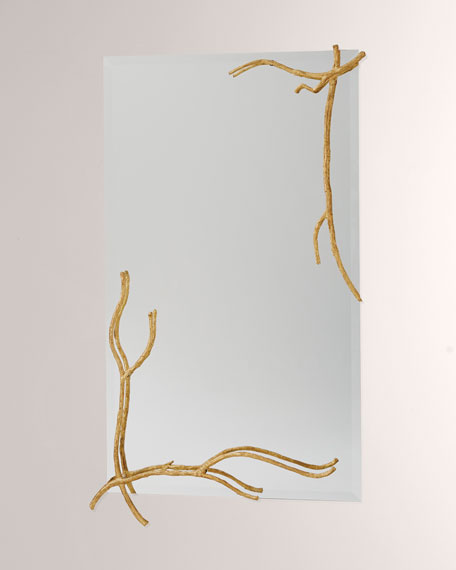 Twig Gold Leaf Large Mirror