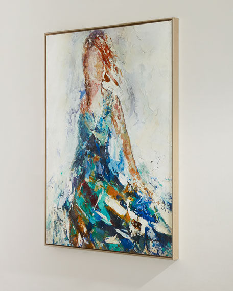 """Lady of the Manor"" Handmade Wall Art on Canvas by Feng Ming"