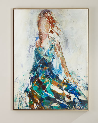 Lady of the Manor Handmade Wall Art on Canvas by Feng Ming