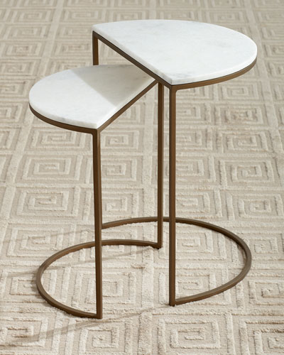 Metta Marble-Top Nesting Tables