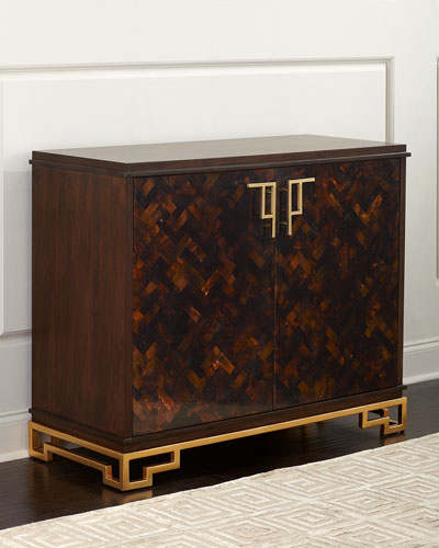 Herringbone Two-Door Chest