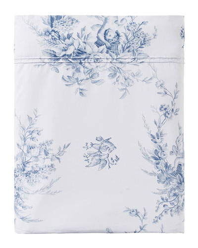 Evanescence 200 Thread Count Toile Queen Flat Sheet
