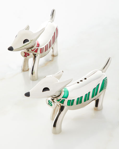 Godinger Dachshund Dog Salt & Pepper Shakers