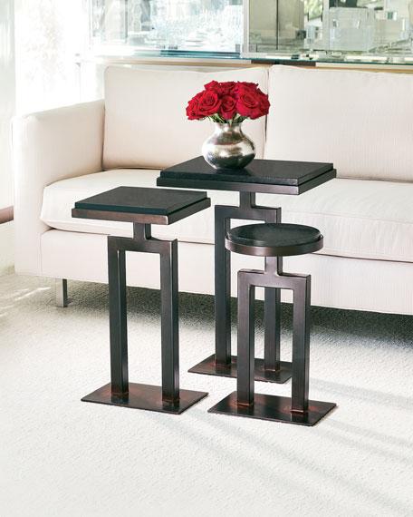 Square Granite Side Table