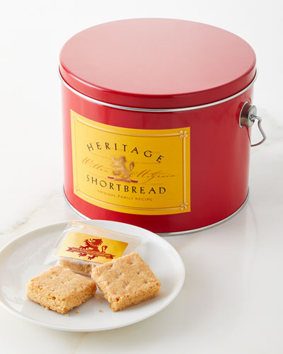 Red Shortbread Tin