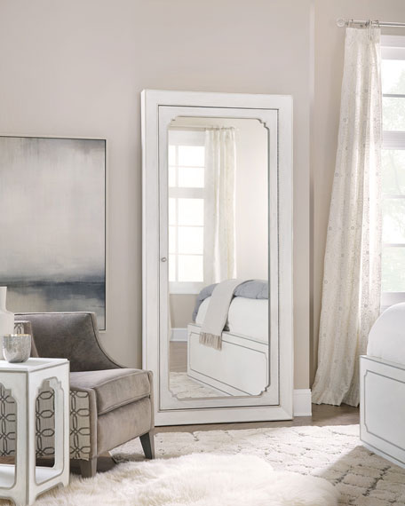 Eleri Floor Mirror with Jewelry Storage