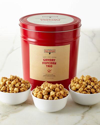 Red River Savory 3-Flavor Popcorn Tin