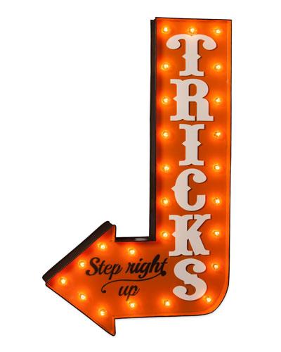 TRICKS Marquee Light-Up Halloween Sign