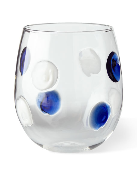 Dot Stemless Wine Glasses, Set of 2