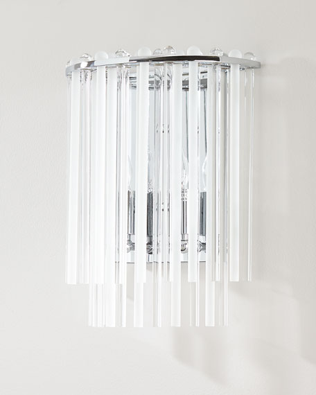 Bleecker 2-Light Polished Chrome Sconce