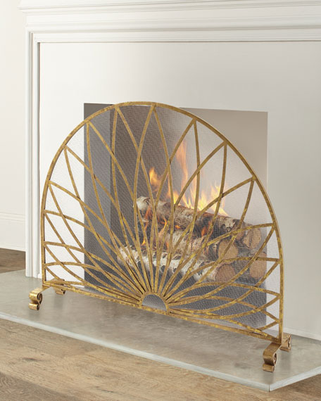 Fireplace Screen with Star Burst Design