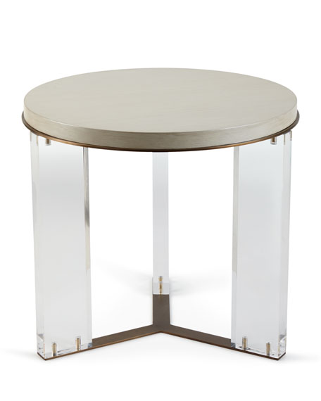 Malone Acrylic-Leg Side Table