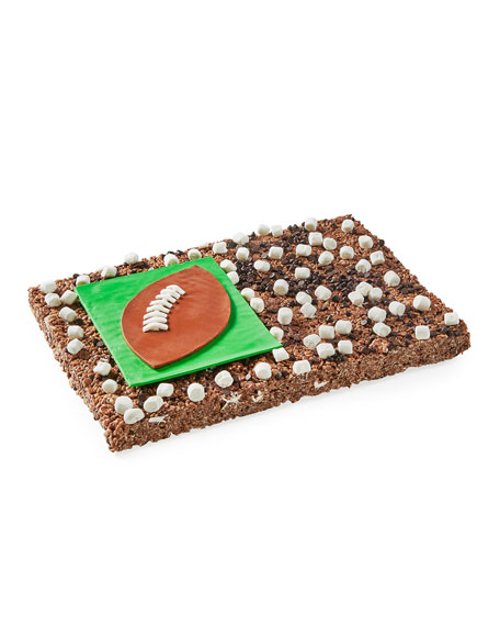 Party-Sized Rice Crispy Bar Football Cake