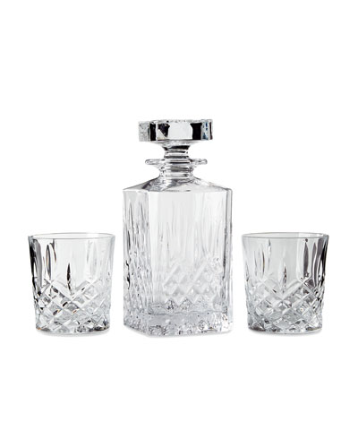 Markham Square Decanter & Two Double Old-Fashioned Glasses