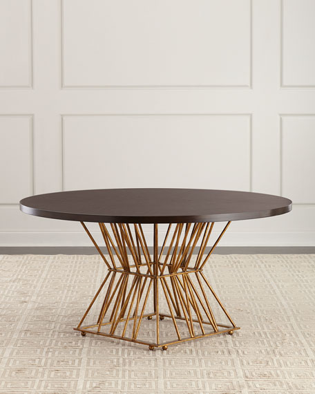 Eiffel Gold Base Dining Table