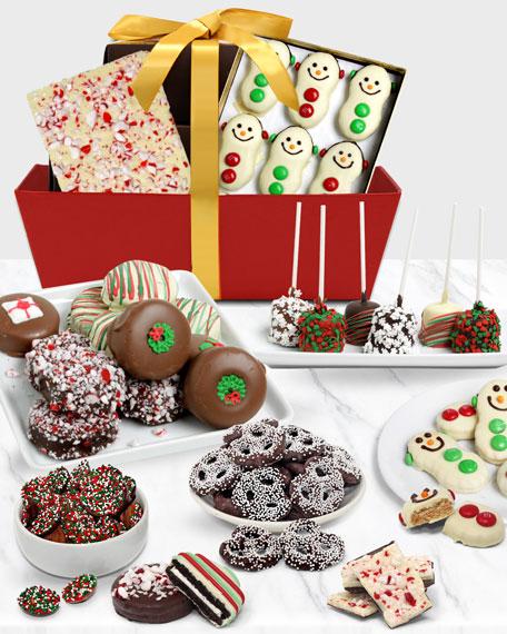 Chocolate Covered Company Festive Gift Basket