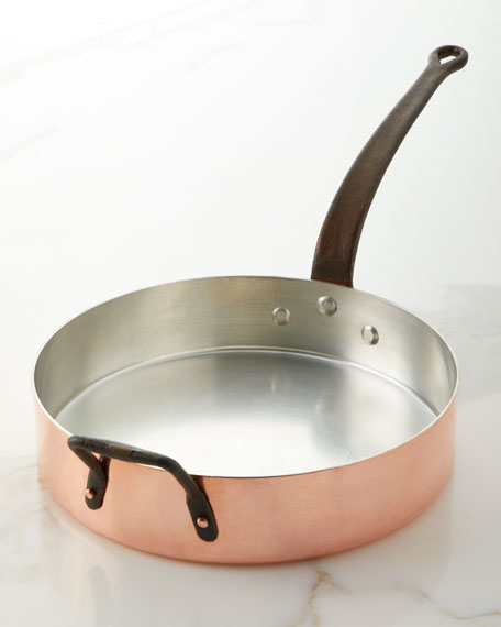 Solid Copper Silver-Lined Saute Pan